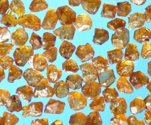 Amber Color CBN Diamond , Synthetic Abrasive Material High Strength CBN- A25